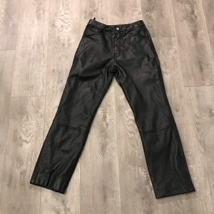 Wilsons The Leather Experts High Rise Leather Pant